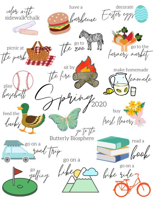 Spring Bucketlist Illustrations
